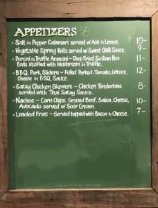 Appetizers Menu at Chevron Tavern